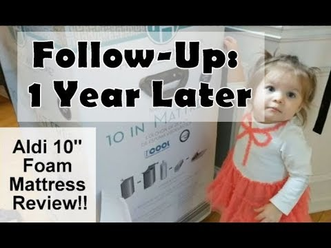 Aldi 10″ Foam Mattress Review: Recap & Follow-Up!! One Year Later