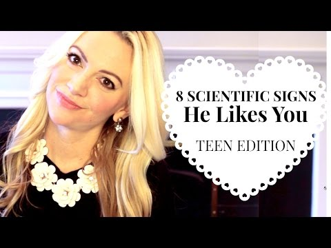 8 Scientific Signs He Likes You (How to Tell if a Guy Likes You): TEEN EDITION | Ask Kimberly