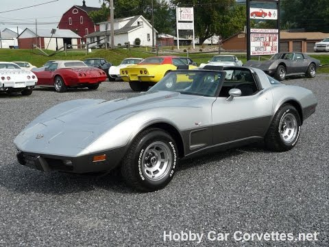 1978 Yenko Silver Anniversary L82 Corvette Rare Close Ratio 4spd T Top Video