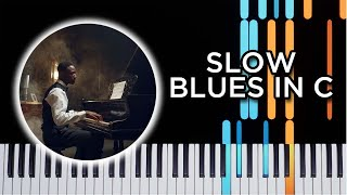 Slow Blues in C - Jazz Piano Tutorial