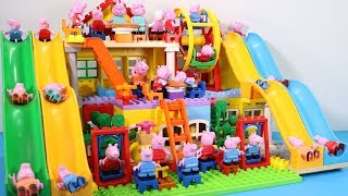Peppa Pig House Creations With Water Slide Toys - Lego House Toys For Kids #3