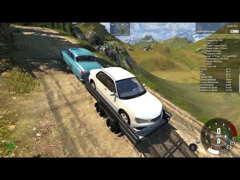 BeamNG.Drive, Cruising In The Burnside With A Loaded Trailer