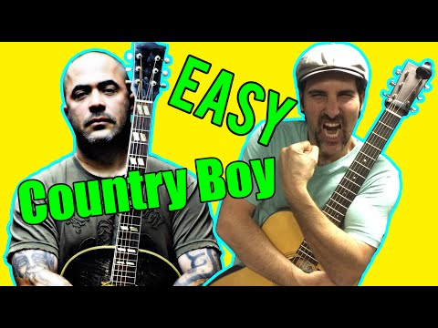 How To Play Country Boy By Aaron Lewis Acoustic Guitar Lesson