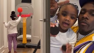 Dababy daughter serenity showing her basketball skills