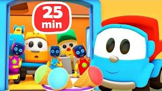 Грузовичок Лева малыш собирает технику - Мультики про машинки для детей