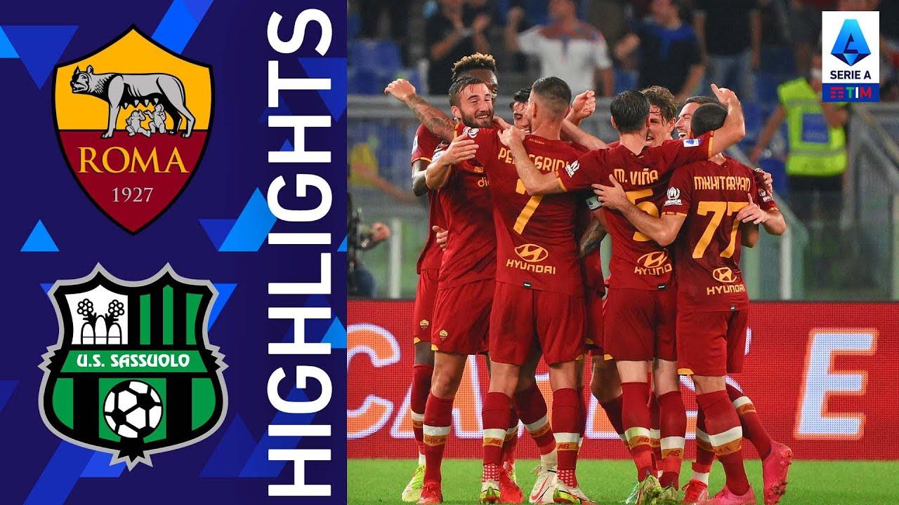 Roma 2-1 Sassuolo | Una notte piena di emozioni all'Olimpico! | Serie A TIM 2021/22
