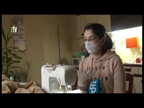 Ukrajinka šije maske u Zaječaru u borbi protiv širenja koronavirusa