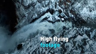 High-flying drone footage from Norway