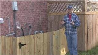 Home Improvement Projects : How To Build A Cheap Fence