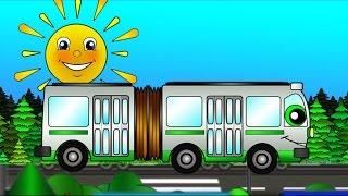Мультики про машинки #ВесёлыйТранспорт: история про Автобус! Развивающие видео для малышей