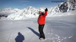 Смотреть онлайн Как начать движение на лыжах, обучение поворотам