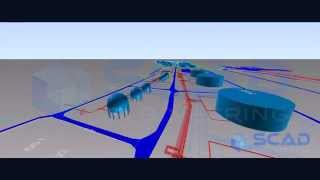 preview picture of video '1.4 square kilometer, 550 kilometers of pipes / 1.4 km², 550 km de tuyauteries'