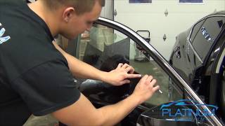 How To Professionally Tint a Car Door window - 2014 Infiniti Q50 ( For Beginners )