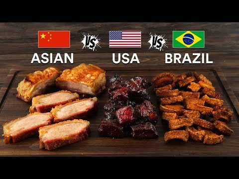Pork BELLY 3 WAYS - Asian, USA & Brazilian! Which is BEST?