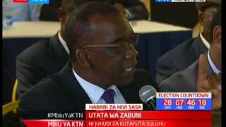Utata wa Zabuni kuhusu makaratasi wa uchaguzi wa urais: Mbiu ya KTN