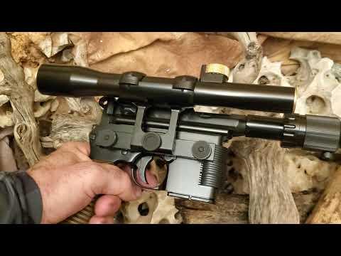 Han Solo's heavy blaster pistol, all metal DL-44 Mauser broom handle