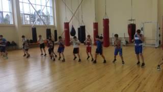 Тренировочный процесс отделения бокса