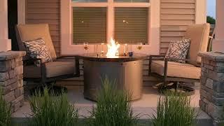 Edison Gas Fire Pit Table