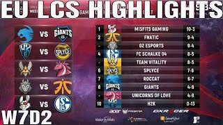EU LCS Highlights ALL GAMES Week 7 Day 2 Full Day Highlights Summer 2018 W7D2