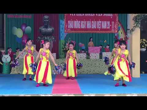 Văn nghệ  chào mừng ngày nhà giáo Việt nam 20/11 lớp 5 - 6 tuổi tuổi B