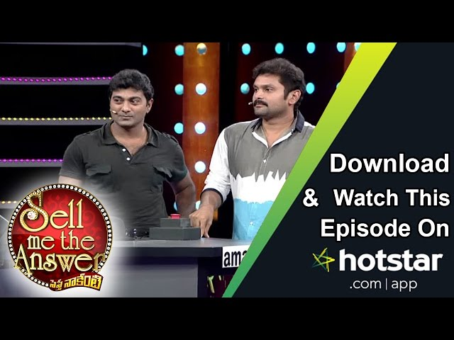 Kaushik & Sumith at Sell Me The Answer – 30th October 2016 – Full Episode
