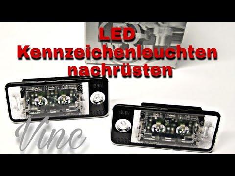 Original Audi LED Kennzeichenbeleuchtung nachrüsten