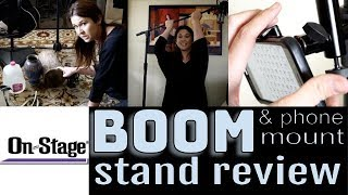 On-Stage Boom Stand And Phone/Tablet Mount