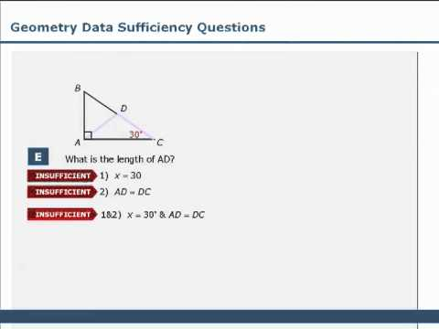 An Overview of GMAT Data Sufficiency – Lesson Nine – Geometry Questions