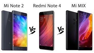 Xiaomi Mi MIX, Mi Note 2, Redmi Note 4 сравнение фото - видео съемки ночью и днем