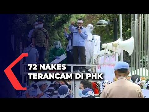 nakes terancam di phk nakes demo depan balai kota