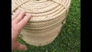 Веревка джутовая декоративная д. 6 мм, L - 1500 м от компании ЭКО-ДОМ - видео