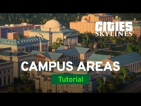 Campus Areas with Fluxtrance | Campus Tutorial Part 1 | Cities: Skylines
