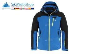 Spyder, Flywheel, ski-jas, heren, sea blauw/acid geel/zwart