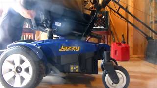 Battery change for a Jazzy wheelchair. ONLY USE GEL BATTERIES IN THESE