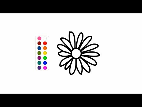 Flower Drawing and Colouring Ford Kids Toddlers