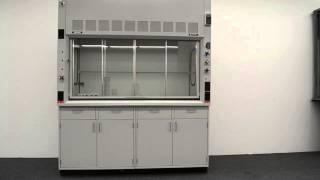 6′ Fisher Hamilton Safeaire Laboratory Fume Hood w/ Base Cabinets
