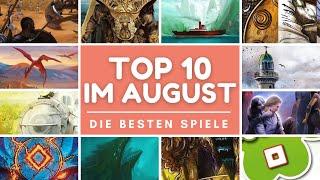 Meine Top 10 Brettspiele im August 2021 - Einige richtig große Brocken!