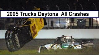 All NASCAR Crashes From The 2005 Florida Dodge Dealers 250