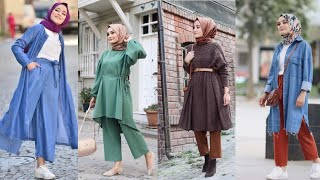 Summer/Winter Fashion Outfits Collection With Hijab 2020 | Latest Hijab Dress Designs For Girls 2020