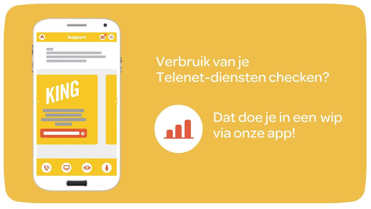 Telenet Support app video