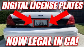 Chasing Dust: Digital License Plates Now LEGAL In California!?