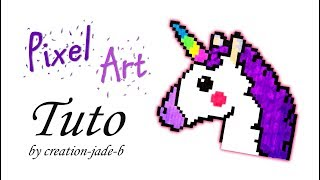 Dessin Pixel Facile Nuage Licorne Apprendre A Colorier Un Pixel