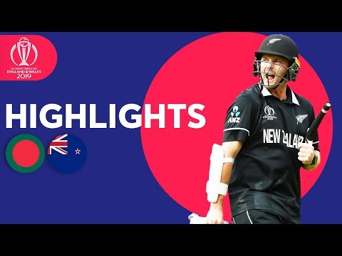 Bangladesh vs New Zealand | ICC Cricket World Cup 2019 - Match Highlights