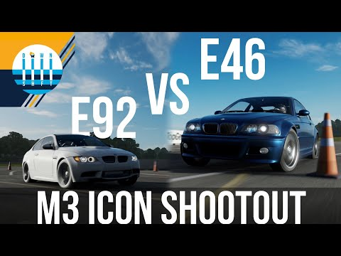 E92 VS E46 - Power VS Control: BMW M3 Reviews And Track Battle [virtual]