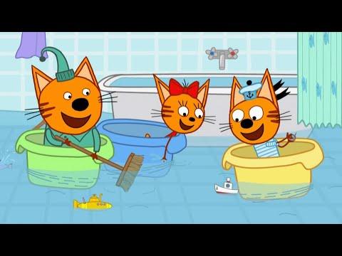Три кота | Серия 129 | Морские игры | Мультфильмы для детей 🐳🌊🐬