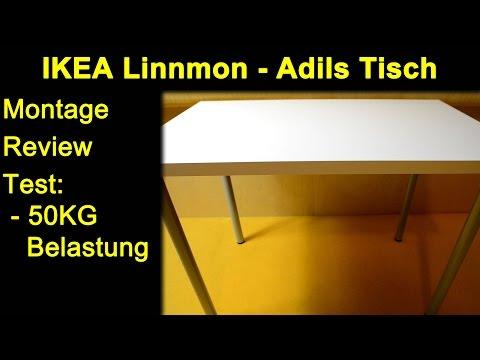 IKEA Linnmon / Adils - Weiß / Grau - Tisch Kombination 100x60 - Montage Review Test 50KG Belastung