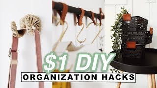 $1 DIY ORGANIZATION HACKS + ROOM DECOR (Dollar Store) // Lone Fox