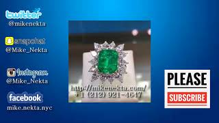 Exchange Emerald Diamond Engagement Ring for bitcoin BTC