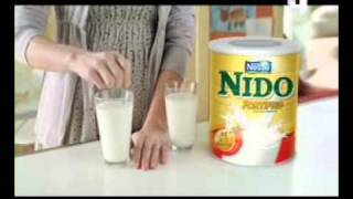Nido powdered milk commercial