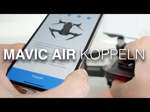 DJI Mavic Air: Wechseln & Koppeln Remote Control (Fernbedieung) & iPhone-Steuerung (deutsch)